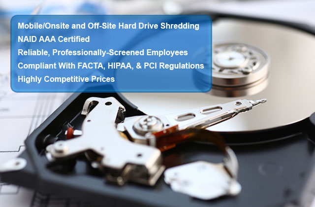 Hard Drive Destruction Service Orange County, CA | NAID-Certified